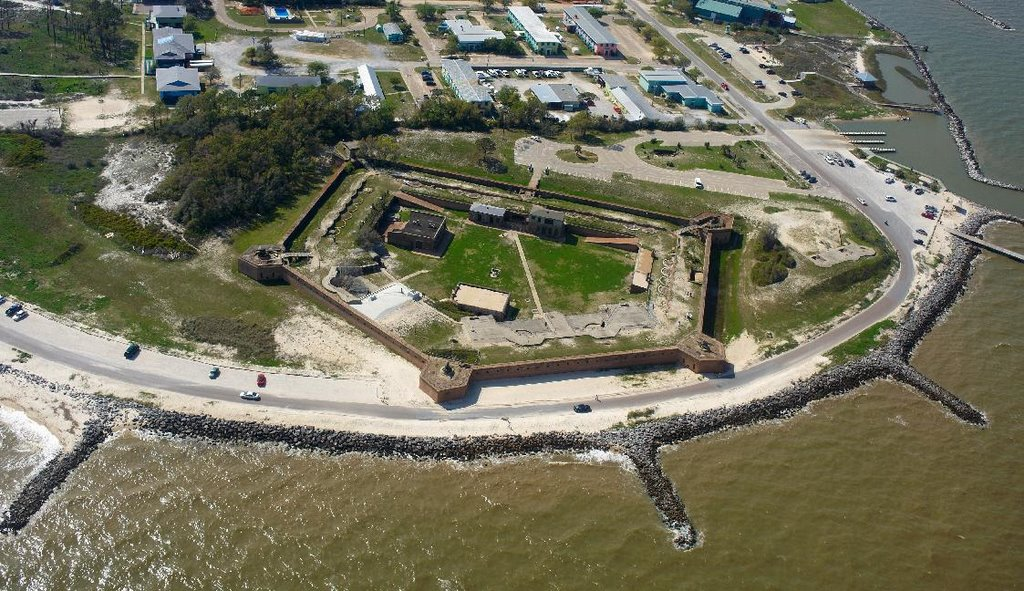 Fort Gaines Dauphin Island Alabama Next Day From